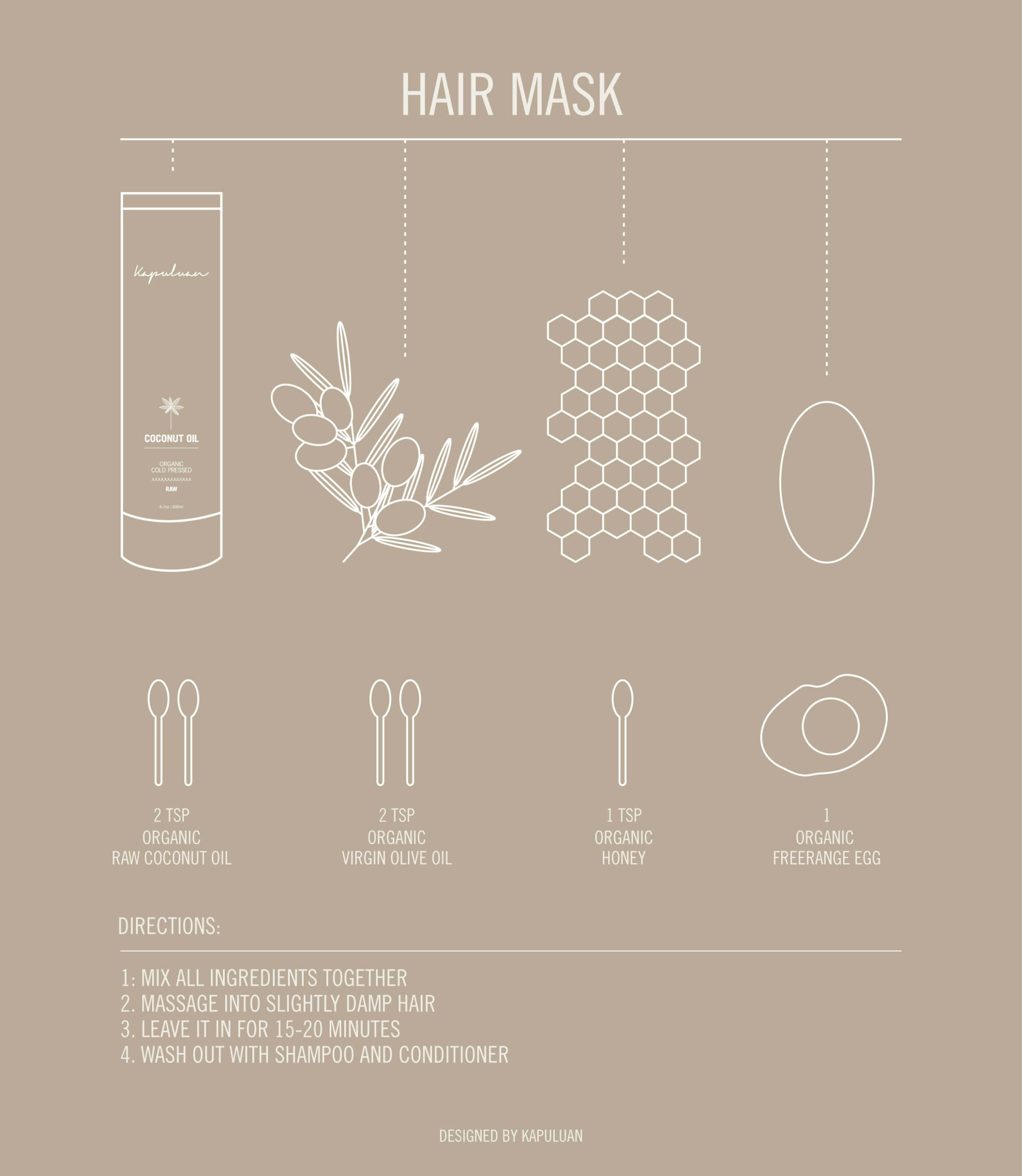 15 Minute Coconut Oil Hair Mask