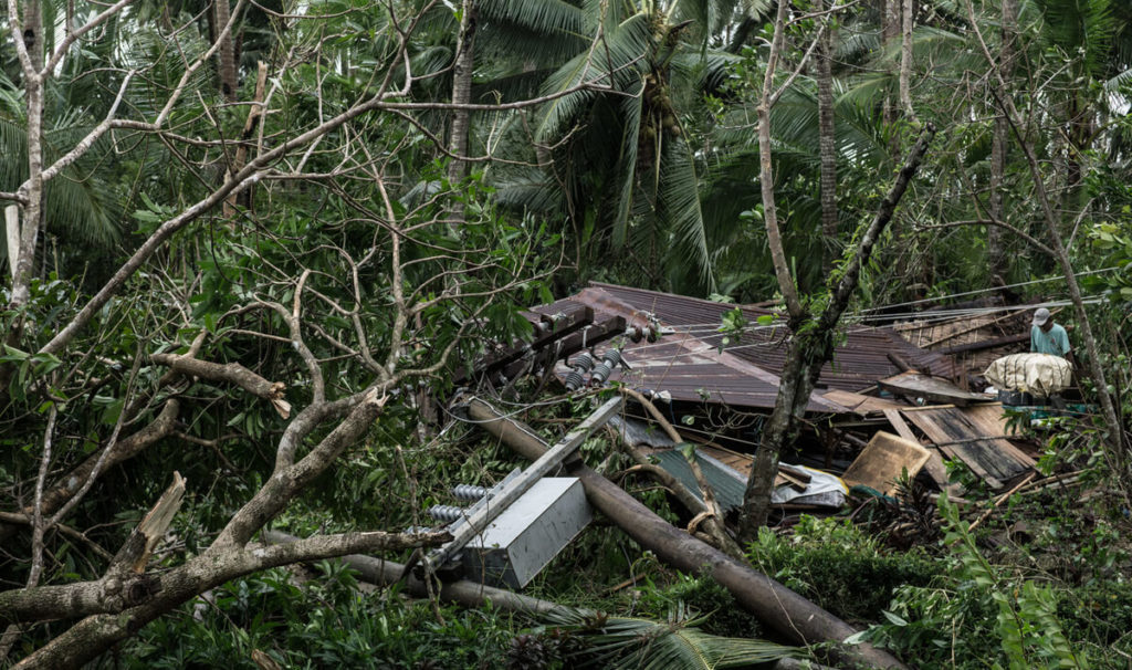Typhoon Hagupit left the residents of Tacloban homeless.