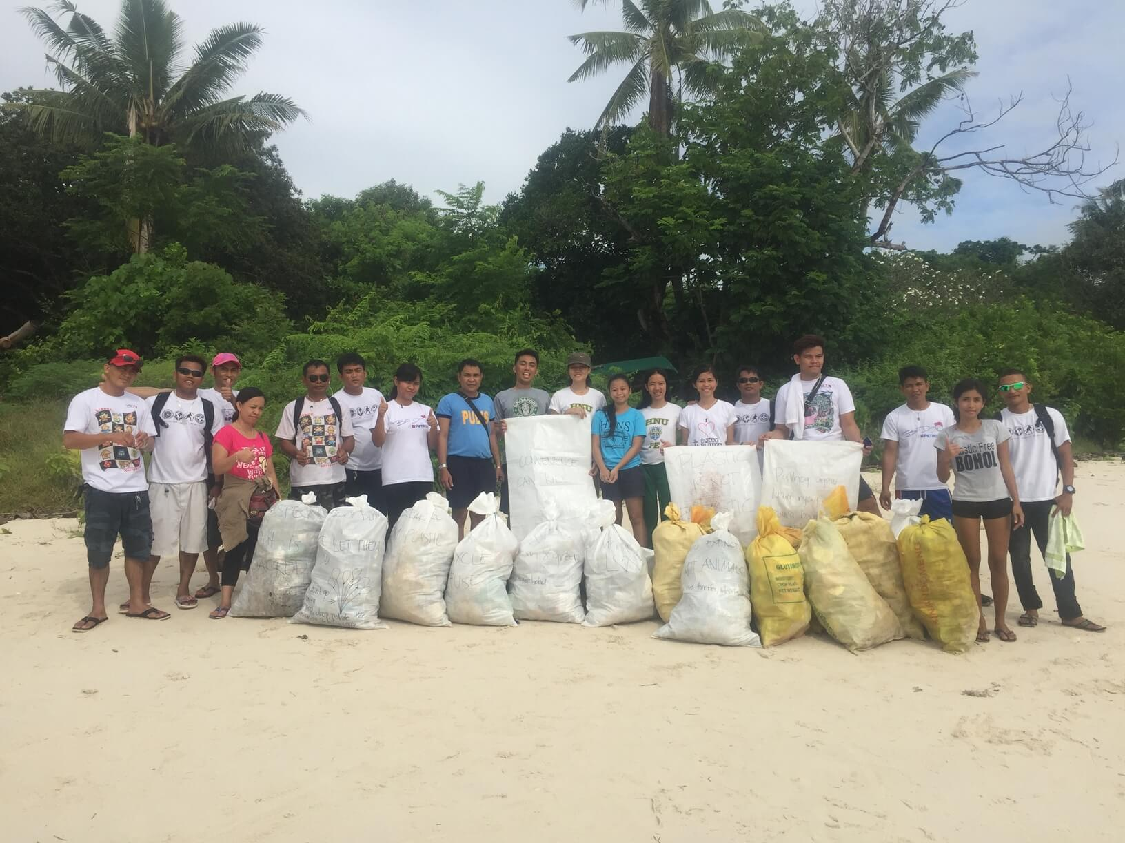 Trash gathered from Bohol beach clean up