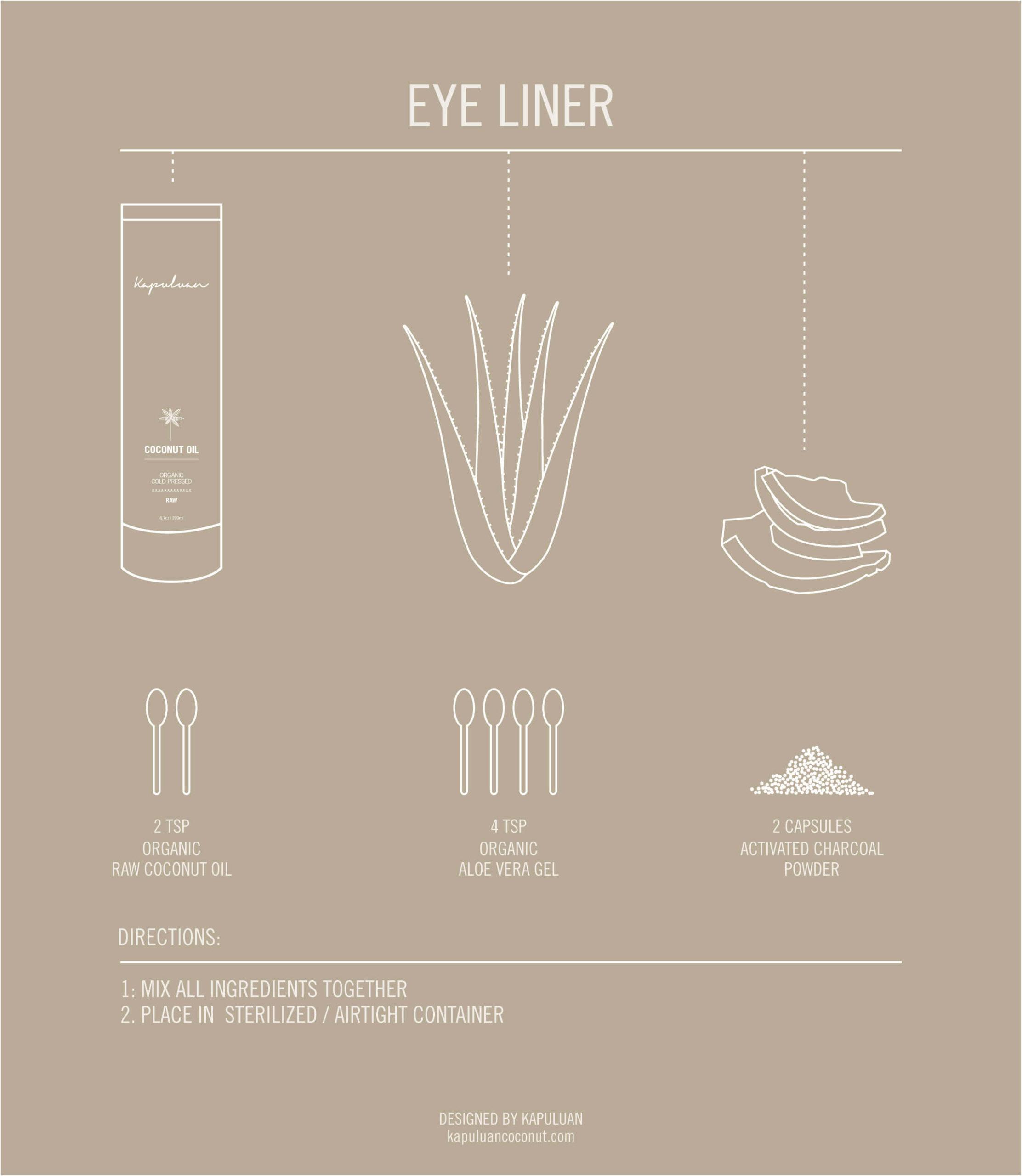 Easy DIY Coconut Oil & Charcoal Eye Liner