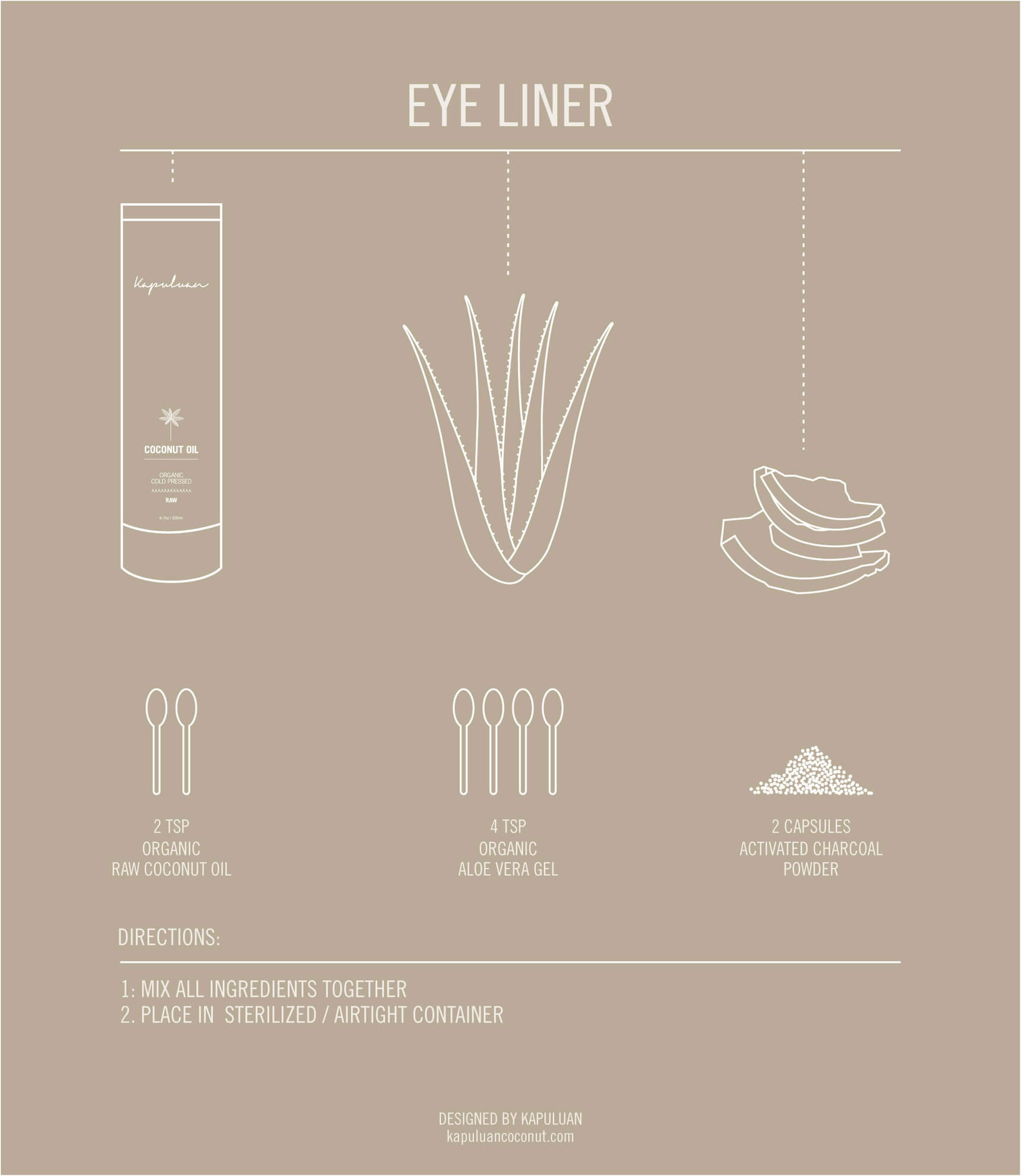 Easy DIY coconut eyeliner that only uses a few natural products.