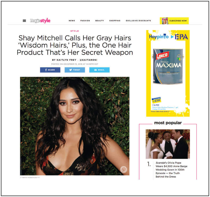 Shay Mitchell's secret weapon for gorgeous hair.